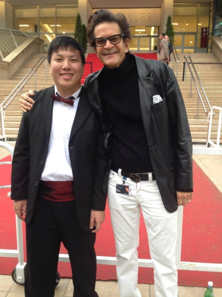 Jordan Ong with fellow film producer Tom Garrett basking in the red carpet at the Cannes Film Festival 2015